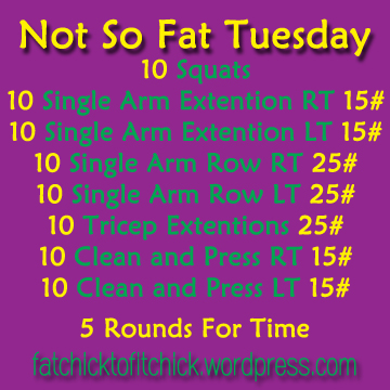 Not So Fat Tuesday